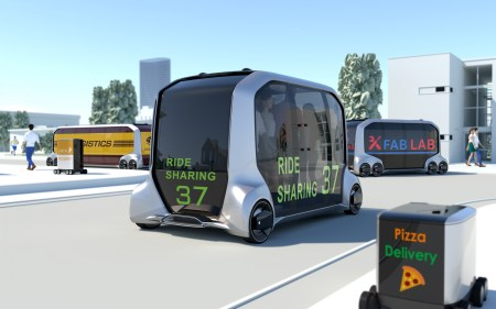 Toyota разработала экосистему электрических беспилотников e-Palette для коммерческого использования совместно с Amazon, Mazda, Uber и др. [CES 2018]