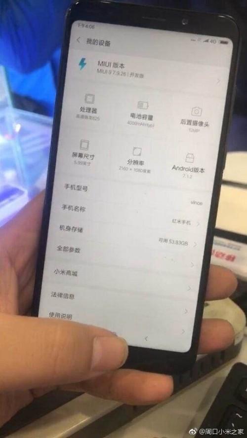 """Китайский регулятор опубликовал характеристики Xiaomi Redmi Note 5: тот же безрамочный 5,99"""" экран, что и у Redmi 5 Plus, но более мощная платформа, двойная камера и две модификации"""