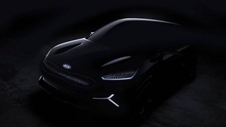 Kia опубликовала тизерные фото концепта электрокроссовера Kia Niro EV, который будет представлен на CES 2018