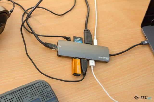 Экспресс-обзор USB-C-дока Promate PrimeHub-C - ITC.ua