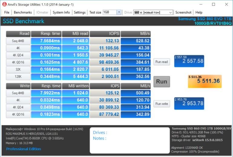 Обзор накопителя Samsung 860 EVO 1 ТБ: в лучших традициях