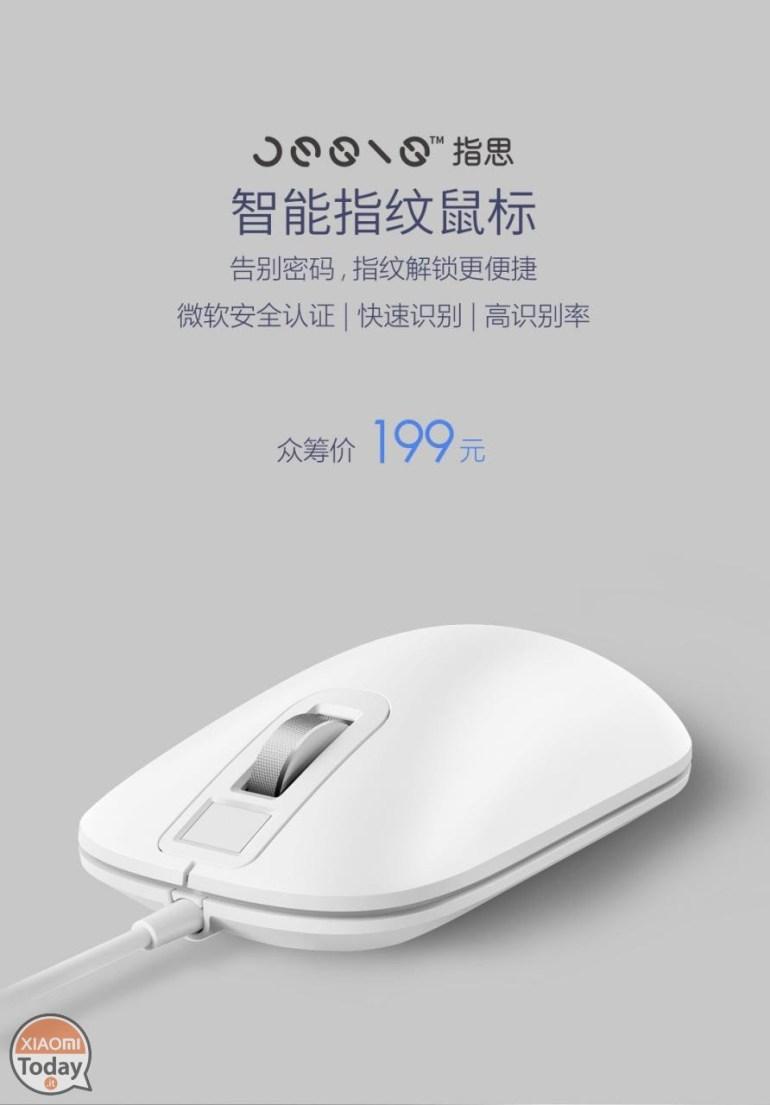 Мышь Xiaomi Mouse Jesis J1 со сканером отпечатков пальцев стоит $30