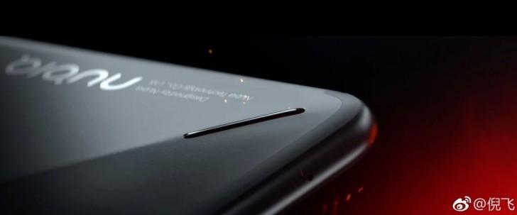 Новые изображения игрового смартфона Nubia Red Magic демонстрирует необычный дизайн задней панели с многоцветной светодиодной полосой