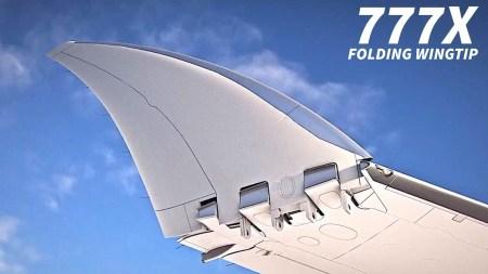 В США одобрили конструкцию складного крыла для пассажирского самолета Boeing 777X