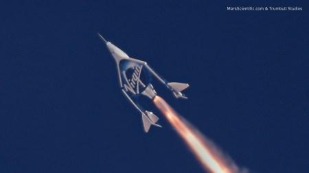 Еще ближе к турполетам в космос: VSS Unity совершил второй испытательный полет со включенным двигателем