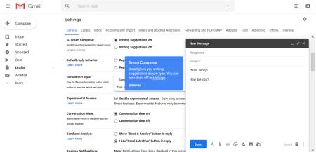 Как включить в Gmail функцию Smart Compose / «Умный ввод»