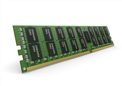 Samsung начала массовое производство модулей DDR4 RDIMM объемом 64 ГБ на базе кристаллов DRAM плотностью 16 Гбит
