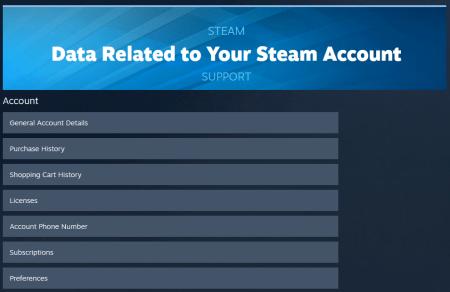 Steam запустил портал данных пользователя, где собрана вся информация о его покупках, настройках и другой активности