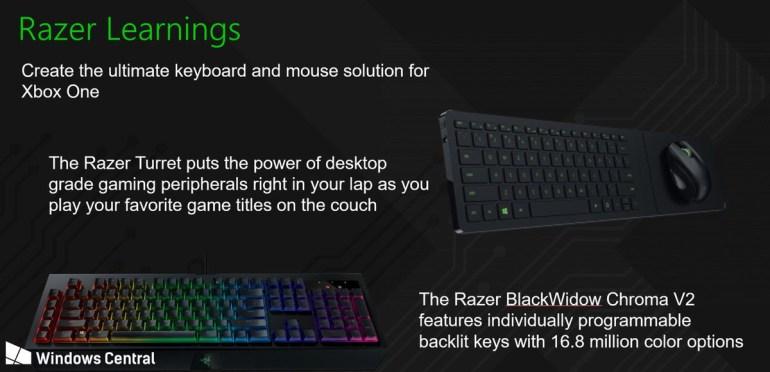 Microsoft и Razer работают над реализацией поддержки клавиатур и мышей для консоли Xbox One, ее могут добавить уже ближайшей осенью