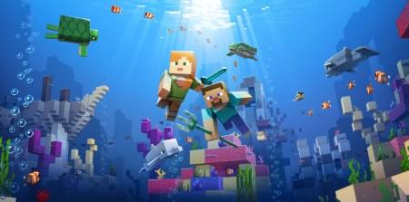 В Minecraft вышло второе обновление Update Aquatic, которое привнесло в игру новых подводных жителей