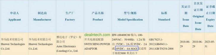 Будущие смартфоны Huawei получат 40-ваттное ЗУ и смогут полностью заряжаться примерно за полчаса