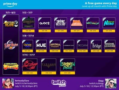 Twitch бесплатно раздаст 21 игру и предоставит скидки 50% на весь ассортимент по случаю распродажи Amazon Prime Day 2018