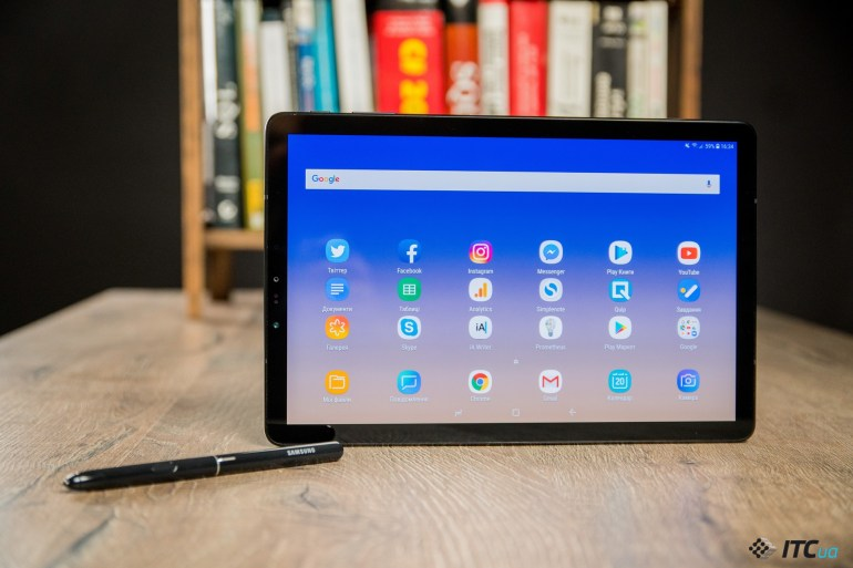 дизайн Galaxy Tab S4