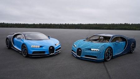 LEGO собрала полноразмерный Bugatti Chiron из 1 млн деталей конструктора и 2304 электродвигателей. И он умеет ездить! [видео]