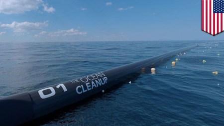 Компания Ocean Cleanup запустила установку по сбору пластикового мусора в Тихом океане