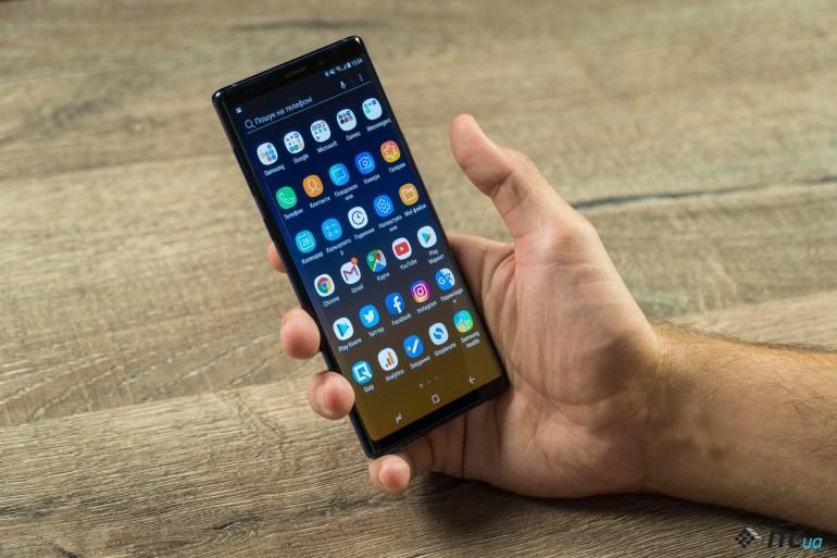 размеры Galaxy Note9