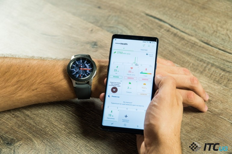 Galaxy Watch плавание