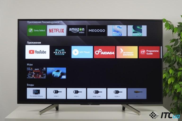 Обзор 4К-телевизора Sony XF75