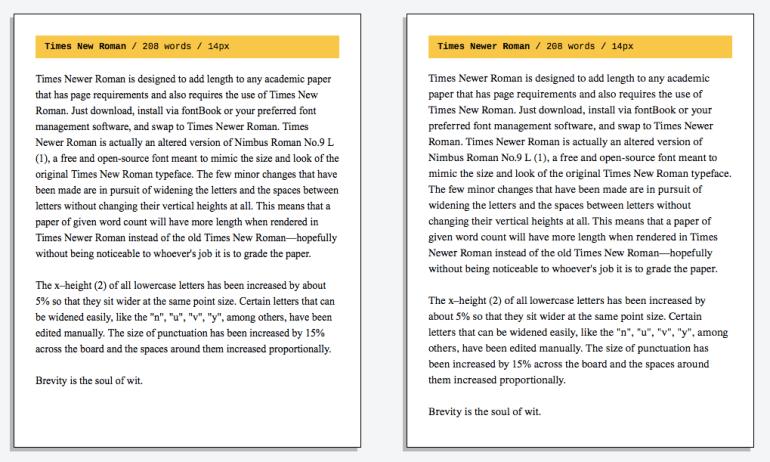 """Дизайнеры создали более """"широкий"""" вариант шрифта Times New Roman, чтобы облегчить жизнь студентам и школьникам"""