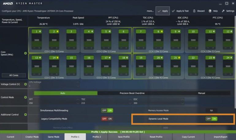 Dynamic Local Mode: AMD придумала, как повысить игровую производительность старших CPU Ryzen Threadripper до 47%