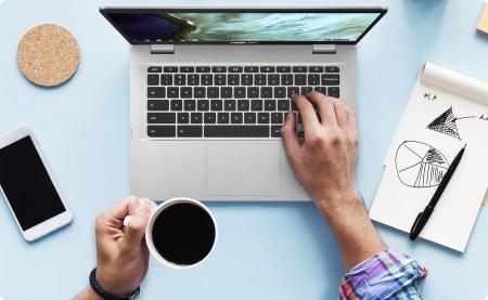 ASUS Chromebook C423 — новый 14-дюймовый хромбук среднего класса со 180-градусным шарниром и четырьмя USB-портами двух типов