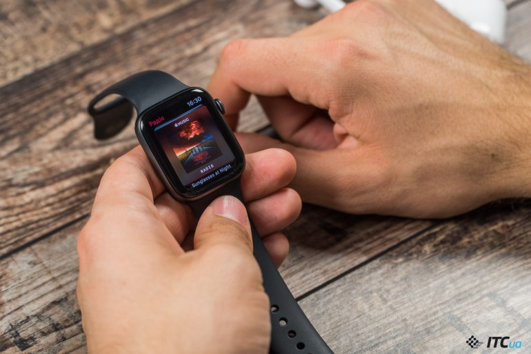 музыка Apple Watch Series 4