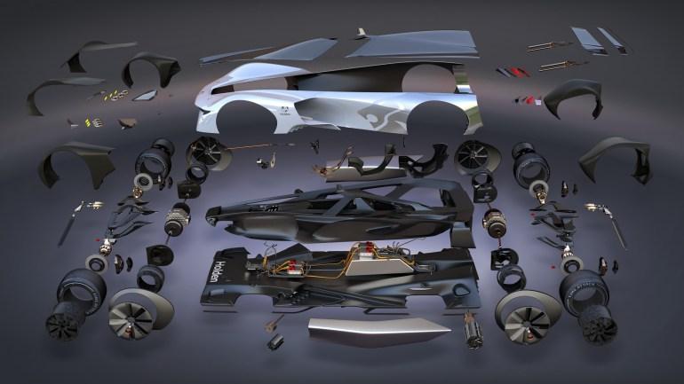 Holden Time Attack Concept Racer - виртуальный концепт электромобиля с мощностью 1 МВт и разгоном до 100 км/ч всего за 1,25 секунды