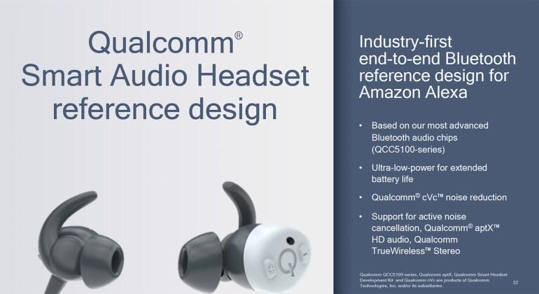 Qualcomm разработала референсный дизайн беспроводной гарнитуры с интеграцией Amazon Alexa