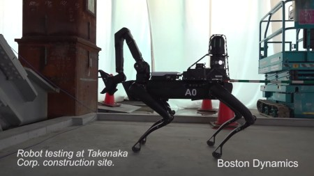 Boston Dynamics также показала новое видео с участием робособаки Spot, инспектирующей реальные строительные объекты