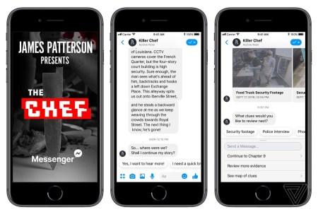 The Chef — интерактивная новелла от писателя Джеймса Паттерсона, которая вышла в Facebook Messenger