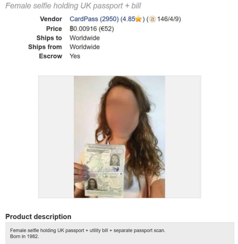 Исследование: копии паспортов украинцев продаются в даркнете по $11