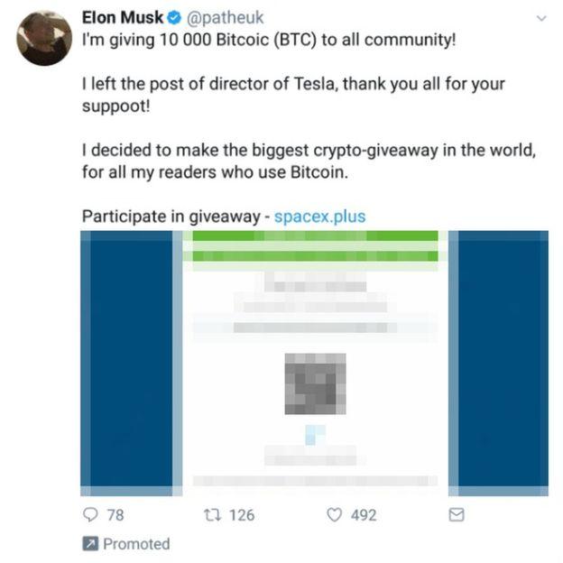 Хакеры, выдававшие себя за Илона Маска, выудили у пользователей Twitter биткоинов на сумму около $180 тыс.