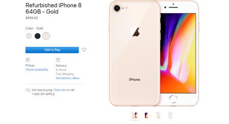 Apple начала продавать восстановленные iPhone 8 и 8 Plus. Сэкономить можно $100