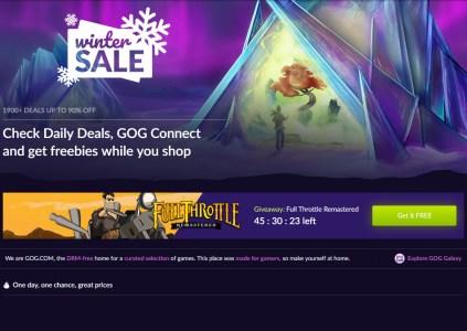 В GOG стартовала зимняя распродажа, а заодно бесплатно раздают игру Full Throttle Remastered на протяжении 2 дней