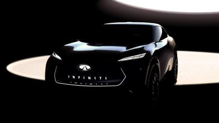 Infiniti показала первое изображение электрического кроссовера, который представит уже на Детройтском автошоу в январе 2019 года
