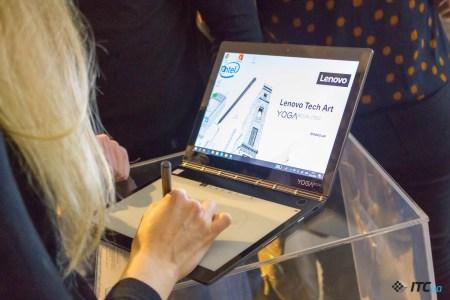 Компания Lenovo провела презентацию YOGA Book в Украине и озвучила цены