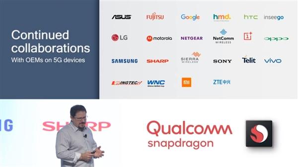 Устройства с 5G-модемом Snapdragon X50 в следующем году выпустят более 20 компаний
