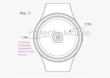 Samsung запатентовала сканер отпечатков пальцев, размещаемый под дисплеем умных часов