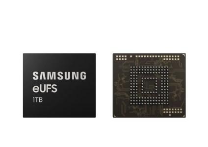 Samsung анонсировала встраиваемый флэш-накопитель UFS 2.1 объемом 1 ТБ для смартфонов нового поколения