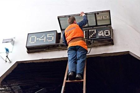 Киевсовет поддержал установку табло с обратным отсчетом на станциях метро