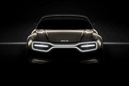 Kia Motors показала первое изображение концептуального электромобиля, который будет представлен на Женевском автосалоне