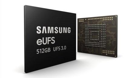 Samsung начала массовое производство первых в отрасли чипов памяти eUFS 3.0 ёмкостью 512 ГБ со скоростью чтения до 2100 МБ/с