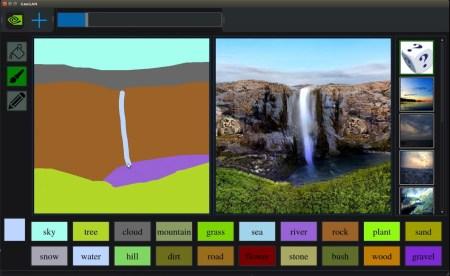 NVIDIA показала GauGAN — ИИ-систему, которая превращает небрежные наброски в фотореалистичные изображения