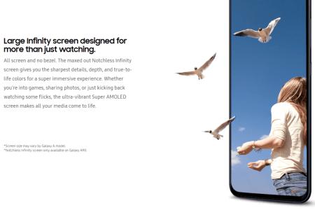 Живые фото защитного стекла для экрана Notchless Infinity смартфона Samsung Galaxy A90
