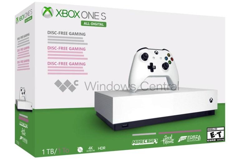 "Windows Central: ""Бездисковую"" консоль Xbox One S All-Digital (1TB) представят 7 мая с ценником $199, в комплекте будут идти ключи на Forza Horizon 3, Sea of Thieves и Minecraft"