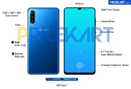 Подоспел первый качественный рендер смартфона Samsung Galaxy A60