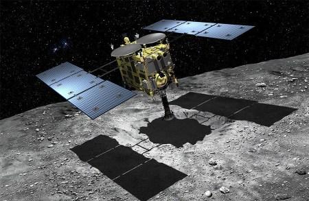 JAXA показала кратер, образованный в результате бомбардировки астероида Рюгу