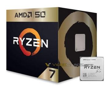 Юбилейный процессор AMD Ryzen 7 2700X 50th Anniversary Edition получил подпись Лизы Су на крышке