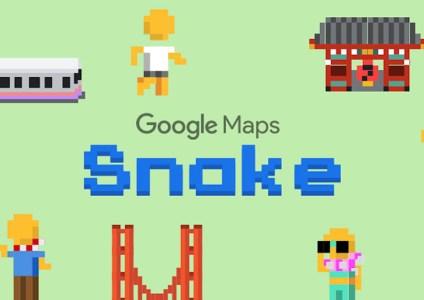 К 1 апреля в Google Maps добавили классическую игру «Змейка»