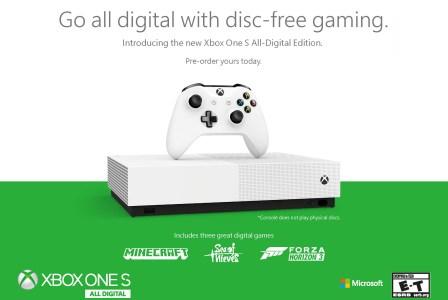 Microsoft анонсировала бездисковую Xbox One S All-Digital Edition за $249 и подписку Xbox Game Pass Ultimate за $14,99/мес